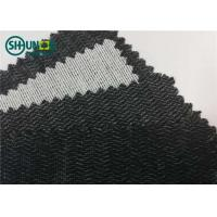 Wholesale Polyester Viscose 60gsm Brushed Woven Interlining Weft Insert Interlining Shrink Resistant from china suppliers
