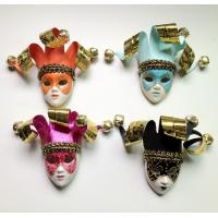 Custom Funny Orange Venetian Mask Brooch For Cloth Decoration Manufactures