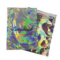 Buy cheap Waterproof Shiny Rainbow Metallic Aluminum Foil Bags Holographic Mailer Jewelry Pac from wholesalers
