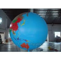 Buy cheap Multifunction Globe Round Earth Balloon / Customized Design World Helium Ball product
