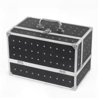 Wholesale Black Makeup Storage Box Women Vanity Cosmetic Organizer With Flannelette from china suppliers