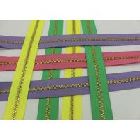 Metal Ykk Sewing Notions Zippers ,  Pink / Green / Purple Tape 9 Inch Separating Zipper