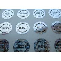 Buy cheap Water Resistant Tamper Proof Warranty Labels Glossy Varnish Eco Friendly from wholesalers