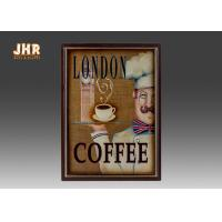 Buy cheap Coffee Shop Wall Art Sign Decorative Wood Wall Plaques Antique Home Wall Decor from wholesalers