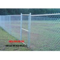 Buy cheap 11 Gauge Chain Link Fence Fabric Hot Dipped Galvanised Steel Wire / Posts from wholesalers