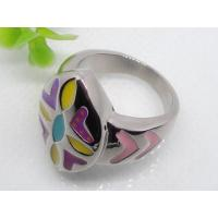 Buy cheap Young Lovely Decoration Enamel Band Stainless Steel Ring 1130947 from wholesalers