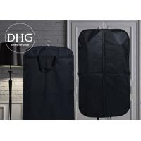 Buy cheap Cotton Fabric Dance Garment Bags Black Washable Front Zippered Pocket from wholesalers