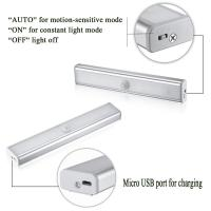 USB Rechargeable PIR Wireless 10 LED Motion Sensor Light Bar Manufactures