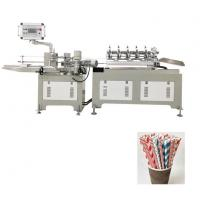 Wholesale Disposable Paper Drinking 3 Color Straw Making Machine Fully Automatic from china suppliers