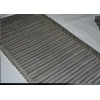 Buy cheap SS Balanced Weave Belt / Chain Link Conveyor Belt Wire Mesh For Transport from wholesalers