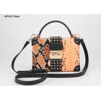 Wholesale New style snake pattern PU leather hard case clutch purse with shoulder strap from china suppliers
