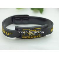 Wholesale FREE SAMPLE Debossed color filled rubber wrist bands cheap bracelet custom silicone from china suppliers