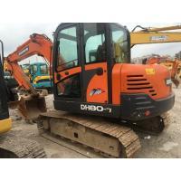 Buy cheap Used DH80-7 Doosan Mini Excavator / Second Hand Doosan Wheeled Excavator product