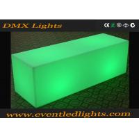 Buy cheap Color Changing Led Light Bench / Glow Led Cube Chair With Remote Control , 50000 Hours Lifetime from wholesalers