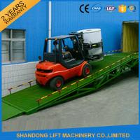 China Shipping Container Heavy Duty Industrial Loading Ramps , Steel Loading Dock Truck Ramps on sale