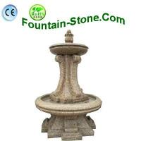 Buy cheap Chinese Yellow Rust Granite Water Fountain For The Garden, Plaza from wholesalers
