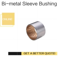 Buy cheap Bimetal Lead-Free Plain Thin Walled bearing Imperial & Metric Sizes Bush With Grooves from wholesalers