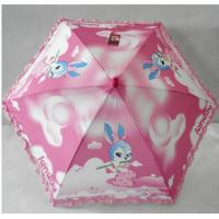 Buy cheap 23''x8k hot transfer printing umbrella with wooden handle from wholesalers