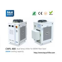 Buy cheap S&A laser chiller CWFL-800 for cooling 800W fiber laser cutting machine from wholesalers