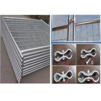 Buy cheap Temporary Security Fence Panels / Building Site Safety Fencing With Plastic Foot from wholesalers