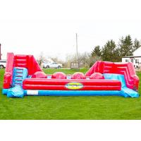 Wholesale Red Balls Inflatable Sports Games Wipe Out Interactive Obstacle Course from china suppliers