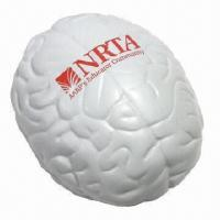 Buy cheap Anti-stress brain-shaped stress reliever, as promotional gifts from wholesalers