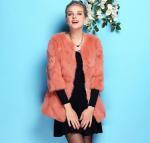 Buy cheap Winter Brand Women's Rabbit Fur long  Coat  Fur Jacket Fur Coats-Customized Multi Color  New Stylish from wholesalers