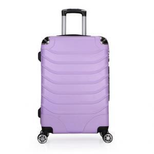 Wholesale 8 Zipper TSA Purple 0.8mm ODM Stylish Travel Luggage from china suppliers