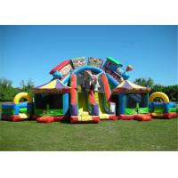 Buy cheap Jumping Bouncy Castle Playground Puncture Proof Children Protective With Obstacle from wholesalers