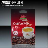 Wholesale Easy Tear Food Packing Film Coffee Packaging Plastic Bags With Handle Hole from china suppliers