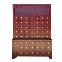 Buy cheap Solid Wood Chinese Pharmacy Store Display Storage Cabinet Modular With Drawer from wholesalers