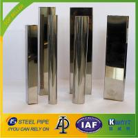 Buy cheap 600 grit polished stainless steel square tube for decoration from wholesalers