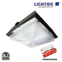 Buy cheap DLC Premium 12x12 90W LED Canopy Lights with motion sensor and Emergency Backup from wholesalers
