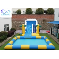 Buy cheap Outdoor Backyard Kids Inflatable Water Slide With Swimming Pool from wholesalers