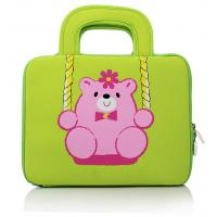 Wholesale Teddy Embroidered Laptop Computer Carrying Case , Notebook Bags 10 Inch from china suppliers