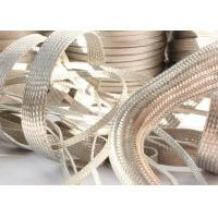 Wholesale Strong Metal Tinned Copper Braided Sleeving Clear Cut For Cable Shielding from china suppliers