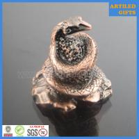 Buy cheap Traditional Chinese zodiac souvenir 3D antique metal snake crafts from wholesalers