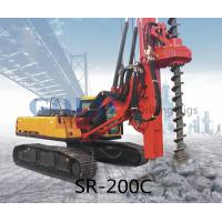 Buy cheap 20m 800mm SR200M Rotary drilling rig caisson piling foundation, jet grouting from wholesalers