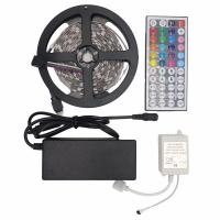 10M SMD 5050 RGB LED Flexible Strip Light Kit 150LEDs 30LEDs/M with 44Keys IR Remote Controller with DC 12V Power Supply Manufactures