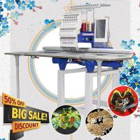 Buy cheap 360*1200mm large flat single head computerised embroidery machine like brother embroidery machine computerized for cap t from wholesalers