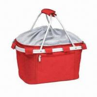 Wholesale Aluminum Shopping Basket in Solid Fabric Colors, Measures 23 x 45.7 x 23cm from china suppliers