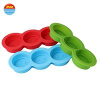 Buy cheap Easy release smiley face shaped non plastic large wholesale make your own custom personalized silicone ice cube tray mol from wholesalers