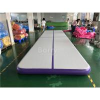 Buy cheap Commercial Inflatable Air Track / Purple Air Jump Tumble Trak For Gymnastics Sport from wholesalers