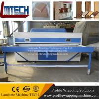 Buy cheap Double work tables MDF vacuum membrane press machine from wholesalers