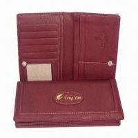 Wholesale Men's PU Leather Wallet, Measures 10 x 9 x 2.5cm, OEM Orders Welcomed from china suppliers