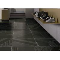 China 1200 X 1200  Carpet Look Porcelain Tile / Wall Black Modern Carpet Tiles on sale