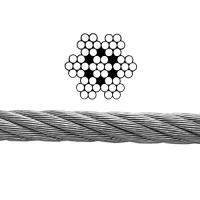 Buy cheap Durable 304 Galvanised Steel Rope 7x7 For Stainless Cable Balustrading from wholesalers