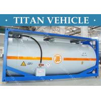Wholesale Carbon Steel ISO Tanker container , 20ft Diesel Fuel LNG LPG Transport Tank Container from china suppliers
