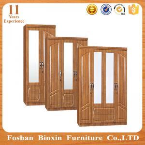 pvc wooden panel mdf bedroom wardrobe