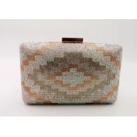 Buy cheap Rainbow Color Champagne Clutch Bag , Crystal & Satin Fabric Box Evening Bags from wholesalers